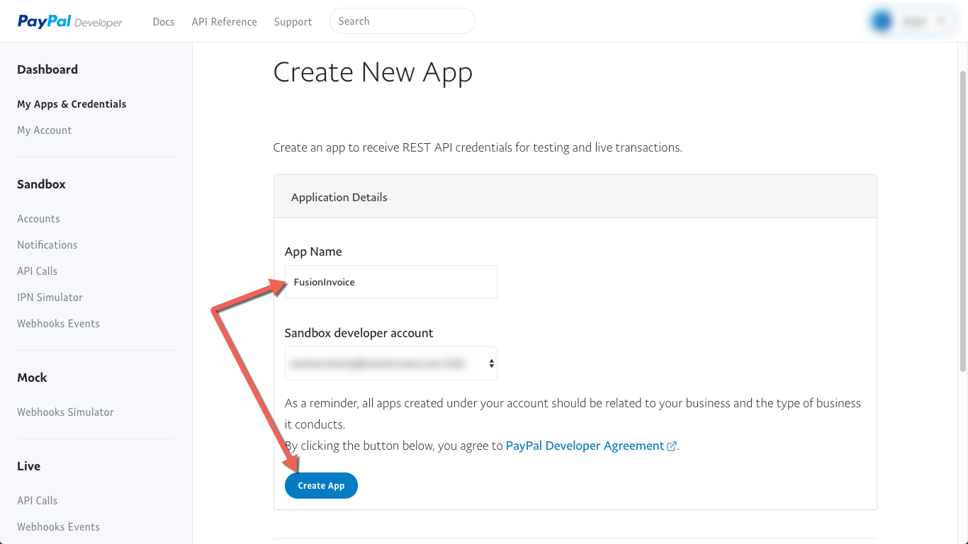 how to create paypal transaction using rest api